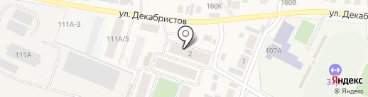 Оранжевый городок на карте Емельяново