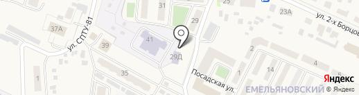 Аэросибстрой на карте Емельяново