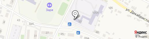 Емельяновская средняя общеобразовательная школа №3 на карте Емельяново