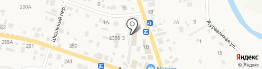 Автодруг на карте Емельяново