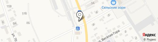 Луч на карте Емельяново