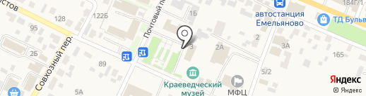 Енисейский объединенный банк на карте Емельяново