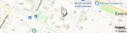 Фонд социального страхования РФ на карте Емельяново