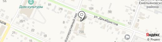 Проводок на карте Емельяново