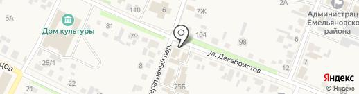 Империя-Авто на карте Емельяново