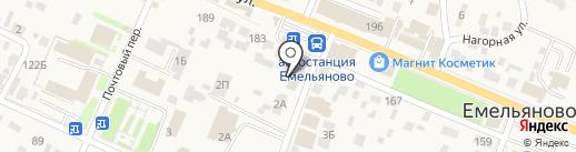 Мистер Чисто на карте Емельяново