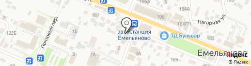 Салон профессиональной косметики на карте Емельяново