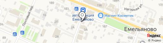 Глобус на карте Емельяново