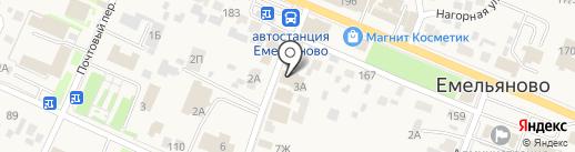 Магазин кондитерских изделий в Кооперативном переулке на карте Емельяново