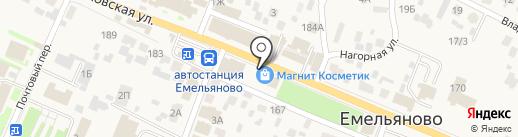 Магазин канцелярских товаров на карте Емельяново