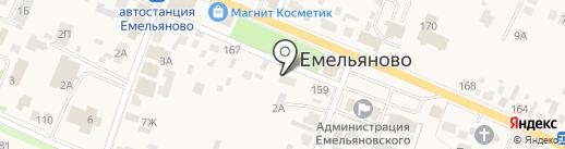 Геоцинт на карте Емельяново