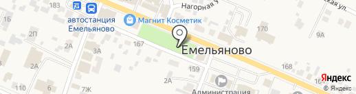 Банкомат, Сбербанк, ПАО на карте Емельяново