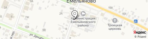 Отделение вневедомственной охраны по Емельяновскому району на карте Емельяново