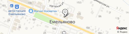 Емельяновские веси на карте Емельяново