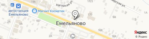 Емельяновская на карте Емельяново