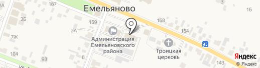 Администрация Емельяновского района на карте Емельяново