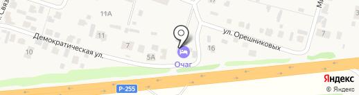 Очаг на карте Емельяново