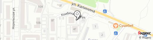 Лана на карте Красноярска