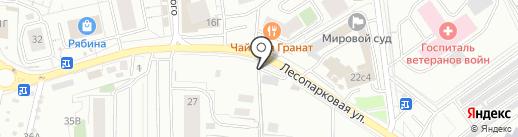 Shell Helix на карте Красноярска