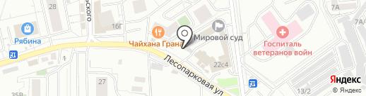 Континент на карте Красноярска