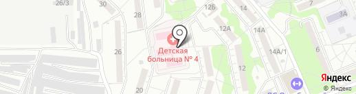 Красноярская межрайонная детская больница №4 на карте Красноярска