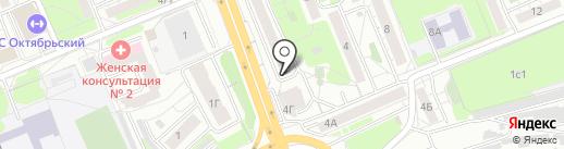 Акварика на карте Красноярска
