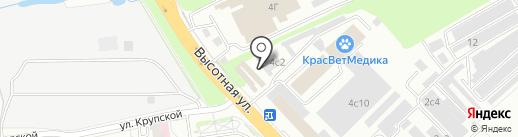 Золотая Лилия на карте Красноярска