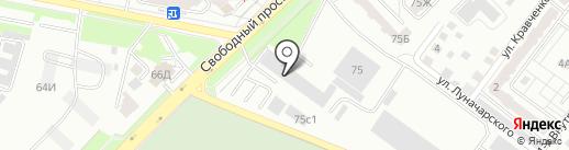 Красноярский региональный инновационно-технологический бизнес-инкубатор на карте Красноярска