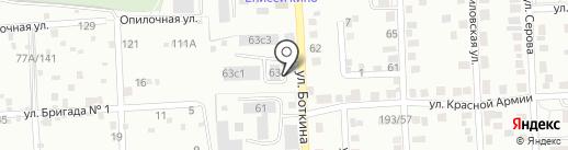 Чебуречная на карте Красноярска