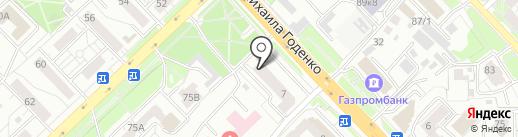 Артея на карте Красноярска