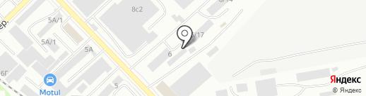 Гранит на карте Красноярска