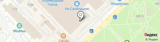 1-РЯД на карте Красноярска