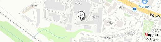 Каштан Красноярск на карте Красноярска
