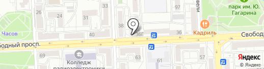 Спарта на карте Красноярска
