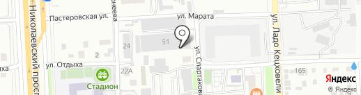 Компания по аренде спецтехники на карте Красноярска