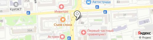 Юнона на карте Красноярска