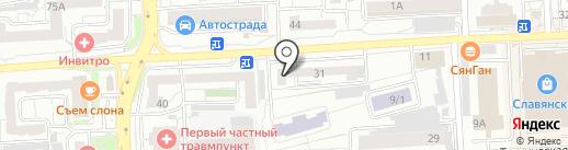 Главная дорога на карте Красноярска