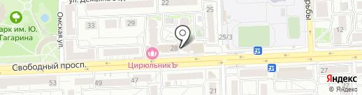 Провинция на карте Красноярска