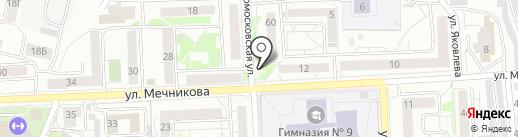 Фон Барон на карте Красноярска