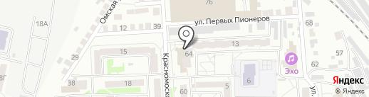 АРЕНА64 на карте Красноярска