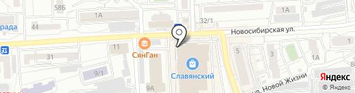 Цунами на карте Красноярска