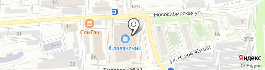 Лавка Травъ на карте Красноярска