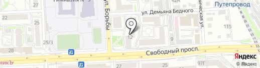 Студия Агрессивного Дизайна на карте Красноярска
