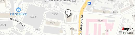 Рено-Моторс на карте Красноярска