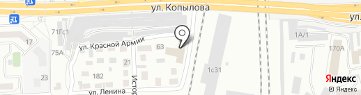 Прачечная самообслуживания на карте Красноярска