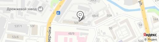 Енот на карте Красноярска