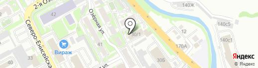 ДЮСШ №1 на карте Красноярска