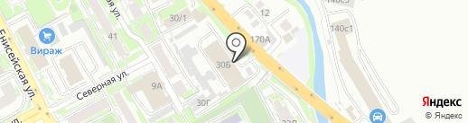 КрасГир на карте Красноярска