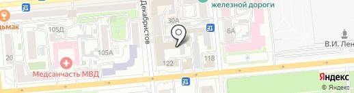 Юридическая консультация на карте Красноярска