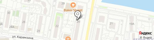 Декорель на карте Красноярска